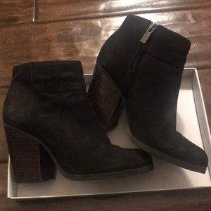 Kenneth Cole Black Ankle Booties